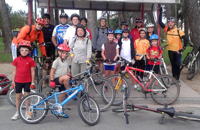 Bicicletada fins a Riudellots 1 - Diumenge, 15 de setembre de 2013