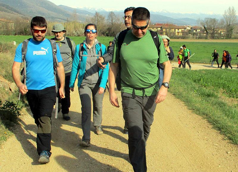 Camí de Sant Jaume: Vall d'en Bas - L'esquirol - Vic 17 - 18 i 19 de març de 2017