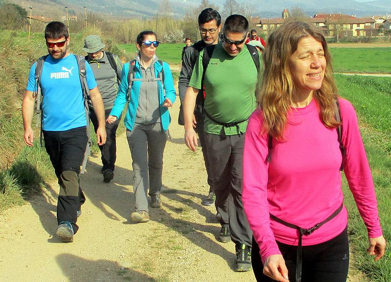 Camí de Sant Jaume: Vall d'en Bas - L'esquirol - Vic 18 - 18 i 19 de març de 2017