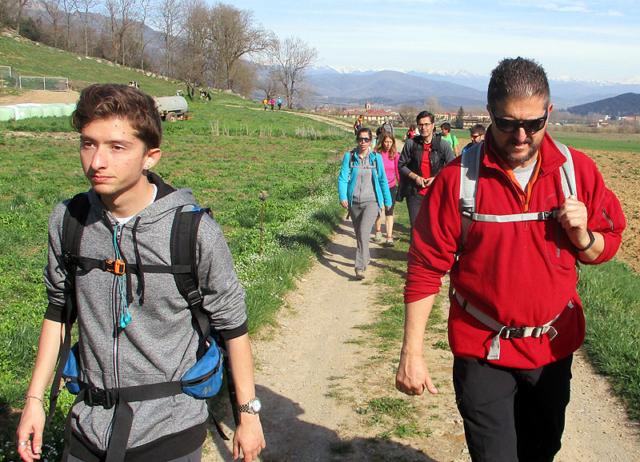Camí de Sant Jaume: Vall d'en Bas - L'esquirol - Vic 21 - 18 i 19 de març de 2017